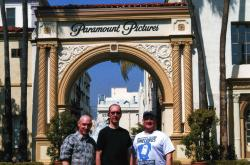 The Three Movie Buffs at the Paramount Gates