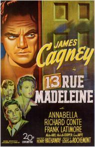 13 Rue Madeleine Movie Poster
