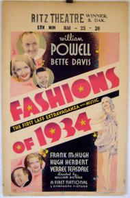 Fashions of 1934 Movie Poster