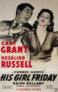 his girl friday 1940 starring cary grant rosalind
