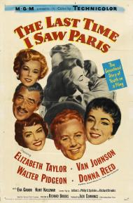 The Last Time I Saw Paris Movie Poster