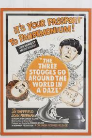 The Three Stooges Go Around the World in a Daze Movie Poster