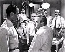 Henry Fonda and Lee J. Cobb trade barbs in 12 Angry Men.
