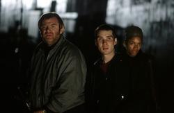 Brendan Gleeson, Cillian Murphy and Naomie Harris in 28 Days Later.