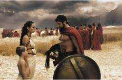 Lena Headey and Gerard Butler in 300.