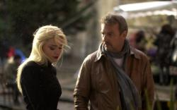 Amber Heard and Kevin Costner in 3 Days to Kill.