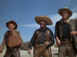 Harry Carey Jr., Pedro Armendariz and John Wayne are 3 Godfathers.