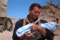 John Wayne in 3 Godfathers with little Robert William Pedro.