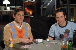 Steve Carrell and Paul Rudd in The 40 Year Old Virgin.