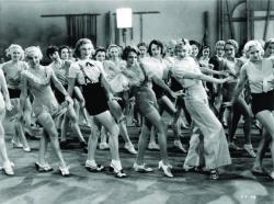 Hear that beat of dancing feet in 42nd Street.
