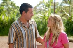 Adam Sandler and Drew Barrymore in 50 First Dates.