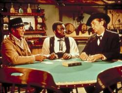 Dean Martin Yaphet Kotto And Robert Mitchum In 5 Card Stud