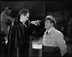 Bela Legosi and Lou Costello in Abbott and Costello Meet Frankenstein.