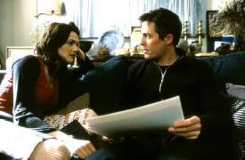 Rachel Weisz  and Hugh Grant in About A Boy.