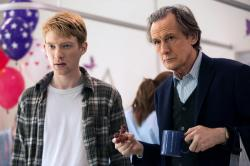 Domhall Gleeson and Bill Nighy in About Time