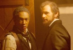 Anthony Mackie and Benjamin Walker in Abraham Lincoln: Vampire Hunter.