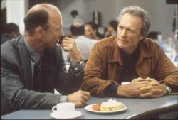 Ed Harris and Clint Eastwood in Absolute Power.