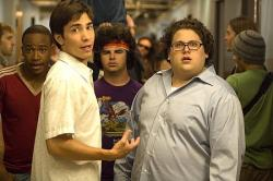 Justin Long and Jonah Hill in Accepted.