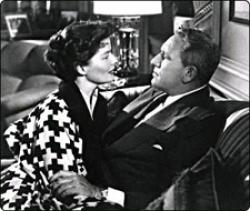 Katharine Hepburn and Spencer Tracy in Adam's Rib.