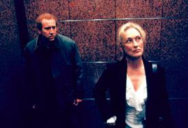 Nicolas Cage and Meryl Streep in Adaptation.