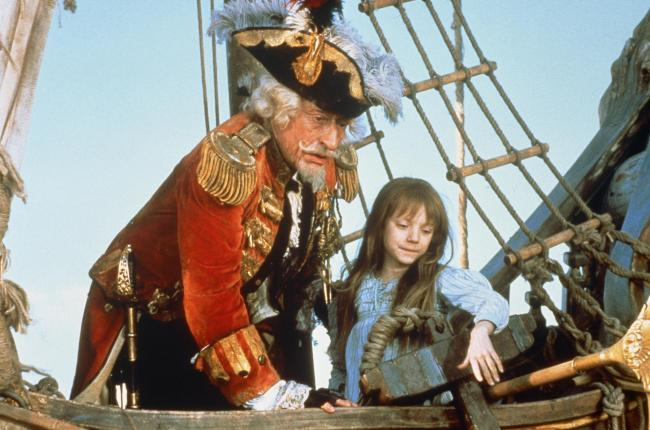 John Neville and Sarah Polley in The Adventures of Baron Munchausen.