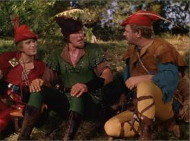 Will Scarlett, Robin Hood and Little John.