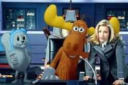 Rocky, Bullwinkle and Piper Perabo  in The Adventures of Rocky and Bullwinkle.