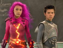 Taylor Dooley and Taylor Lautner in The Adventures of Shark Boy & Lava Girl.