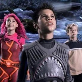 Taylor Dooley, Taylor Lautner and Cayden Boyd in The Adventures of Shark Boy & Lava Girl.