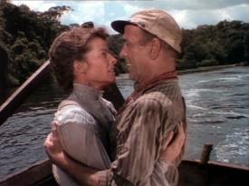 Katharine Hepburn and Humphrey Bogart in The African Queen.