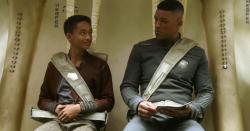 Jaden and Will Smith in After Earth