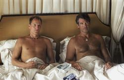 Woody Harrelson and Pierce Brosnan in After the Sunset.