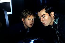 Haley Joel Osment and Jude Law in AI: Artificial Intelligence.