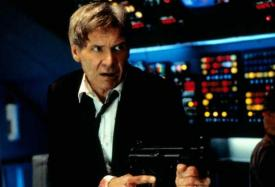 Harrison Ford as the President in Air Force One.