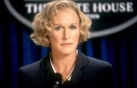 Glenn Close as the Vice President in Air Force One.