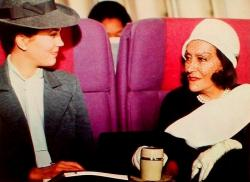 Linda Harrison and Gloria Swanson in Airport 1975