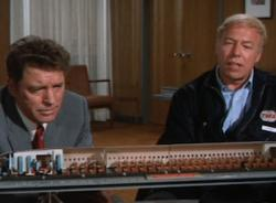 Burt Lancaster and George Kennedy in Airport.