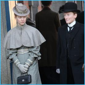 Mia Wasikowska and Glenn Close in Albert Nobbs.