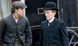 Aaron Johnson and Glenn Close in Albert Nobbs