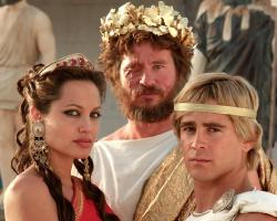 Angelina Jolie, Val Kilmer and Colin Farrell in Oliver Stone's Alexander.