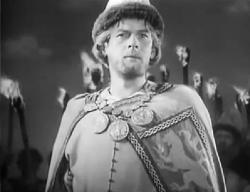 Nikolai Cherkasov as Alexander Nevsky.