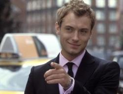 Jude Law in Alfie.