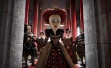 Helena Bonham Carter as the Red Queen in Alice in Wonderland.