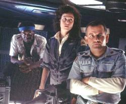 Yaphet Kotto, Sigourney Weaver and Ian Holm in Alien.