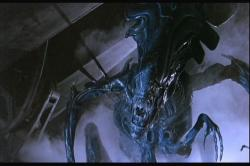 The queen alien is one mad bitch in Aliens.