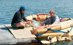 J. C. Chandor directing Robert Redford in All is Lost