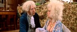 Tom Hulce and Elizabeth Berridge in Amadeus.  What a shame women no longer wear these kind of dresses.