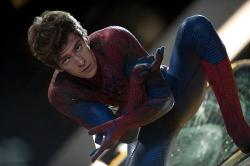 Andrew Garfield in The Amazing Spider-man.