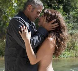 George Clooney and Violante Placido in The American.