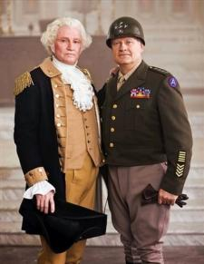 Jon Voight and Kelsey Grammer as Washington and Patton